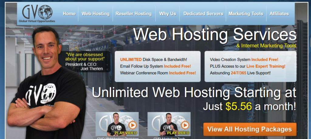 GVO Web Site Hosting Services